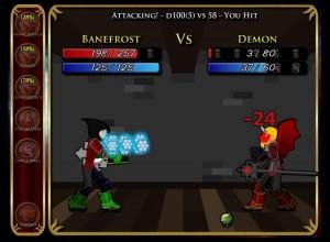 Hier ein Kampf gegen einen Dämon