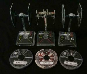 X-Wing Raumschiffe und Manöverräder