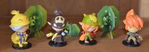 Krosmaster Arena kommt bereits in der Grundbox mit 8 liebevoll gestalteten Figuren daher...hier die ersten 4...