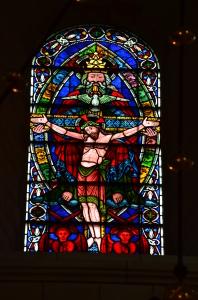 Eins der vielen beeindrucken Fenster der Buckfast Abbey