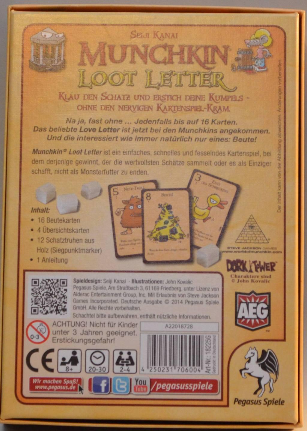 Loot Letter (Munchkin) - Pegasus/AEG - Tequilas Welt