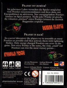 Das Backcover von Franky Reloaded