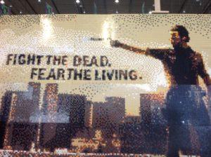 Mosaik aus Legosteinen