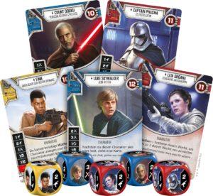 Star Wars: Destiny Karten & Würfelauswahl