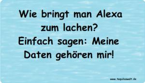 Alexa lacht