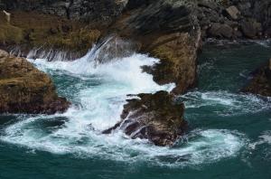 Die Küste bei Tintagel ...
