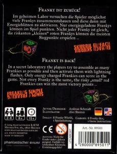 Das Backcover von Franky Reloaded
