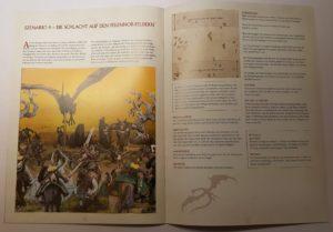Abb. 6: Die vierteilige kleine Kampagne des Sets kulminiert in dem Aufeinandertreffen von zwei Königen. Es kann nur einen geben. (Die Schlacht auf den Pelennor-Feldern)